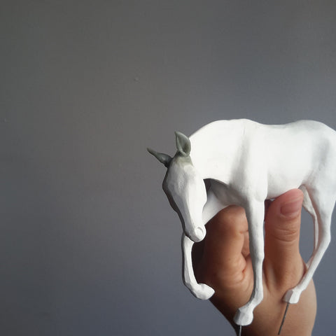 Air dry clay small horse sculpture