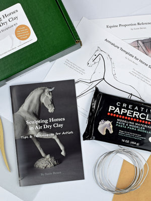 Sculpting Horses in Air Dry Clay - Sculpture Kit