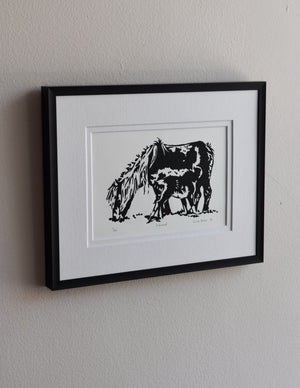 Hand-pulled lino prints