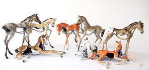 Susie Benes - Foals Rush In series horse art - 2