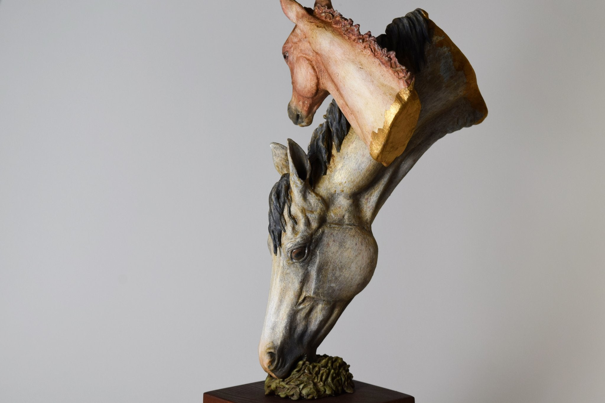 Horse hoof foot mixed media clay sculpture portrait