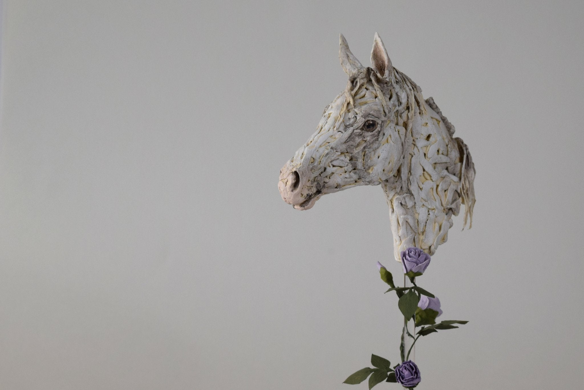 One of a kind horse sculpture portrait