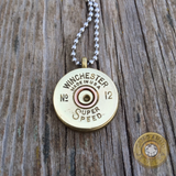 Antique 12 Gauge Brass Shotgun Shell Necklace Western Winchester