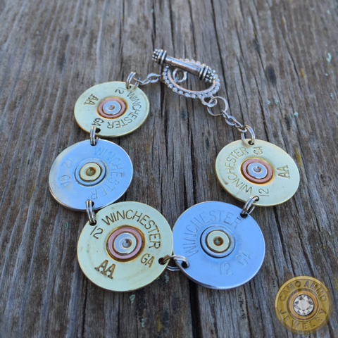 12 Gauge Shotgun Shell Bracelet With Toggle Clasp