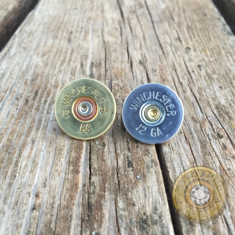 12 Gauge Shotgun Shell Tie Tack/ Hat Pin
