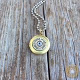 Magnum Caliber Bullet Casing Locket Necklace