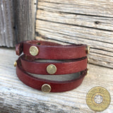 Bullet Casing Leather Wrap Bracelet