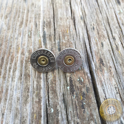 Winchester .25 WSSM Bullet Casing Stud Earrings