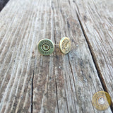.38 Special Brass Bullet Casing Stud Earrings