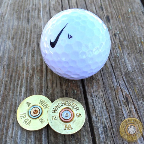 12 or 20 Gauge Shotgun Shell Golf Ball Marker