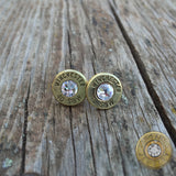 .40 S&W Brass Bullet Casing Stud Earrings