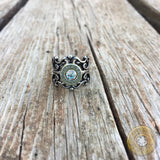 Antique Silver Bullet Casing Filigree Ring