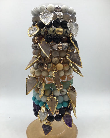 Stone Bracelet with Arrowheads