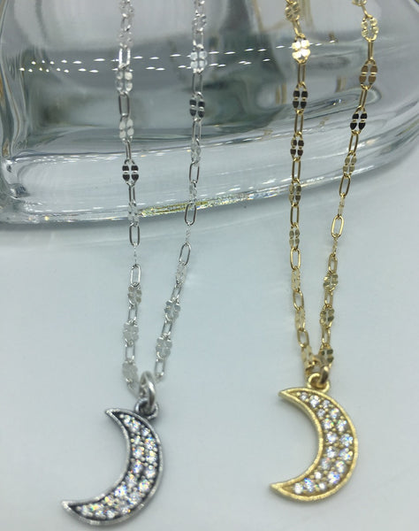 Moon Charm Necklace