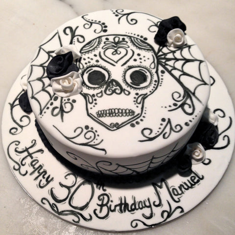Goth Cake/Day of the Dead