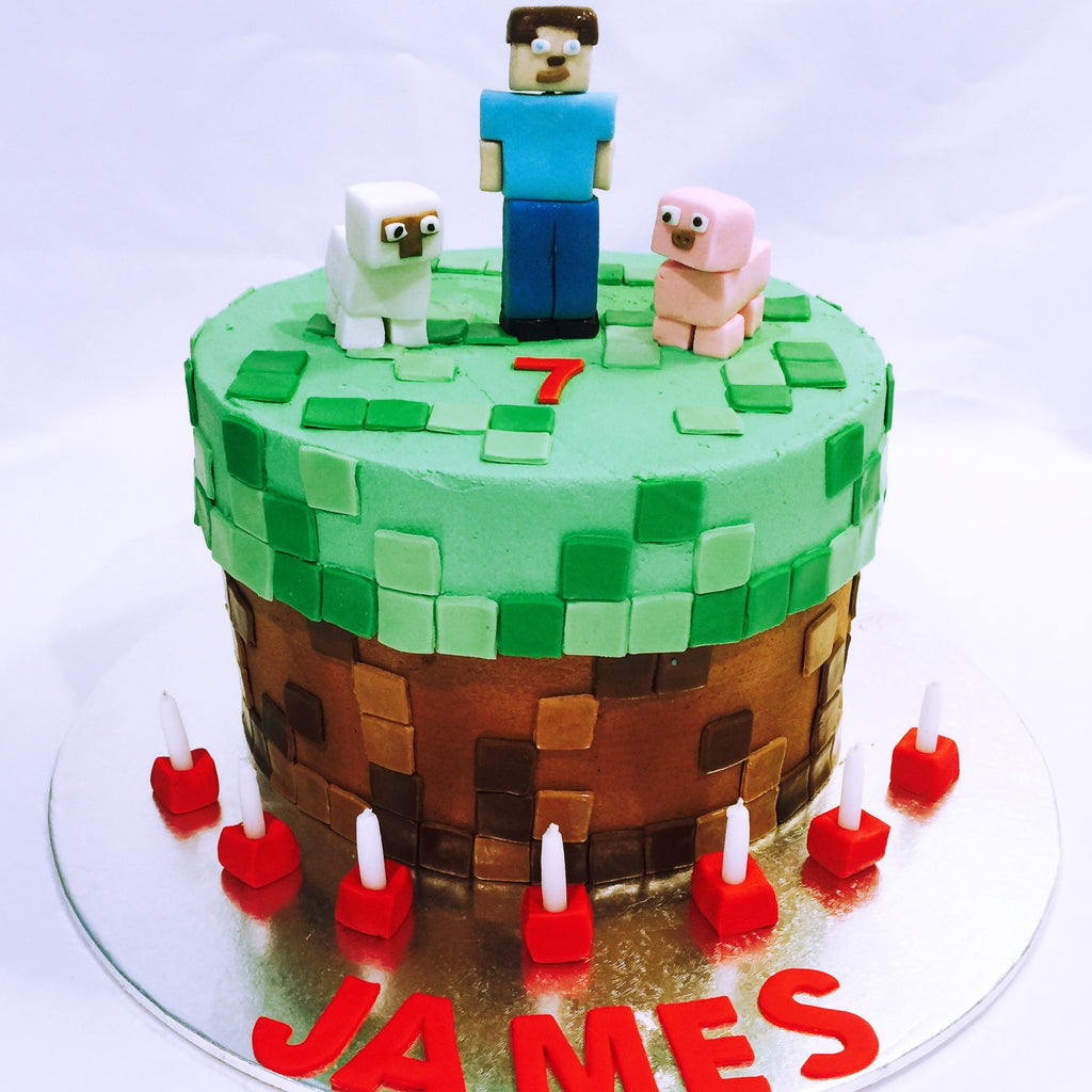 Decorations For Minecraft Cake