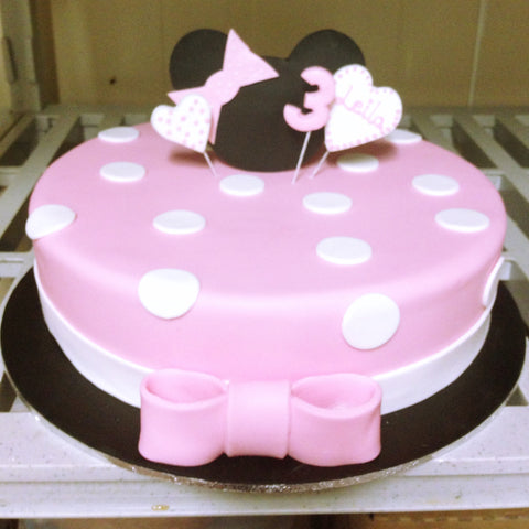 Spotty Minnie Mouse Cake