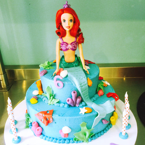 Mermaid Cake Two Tiered