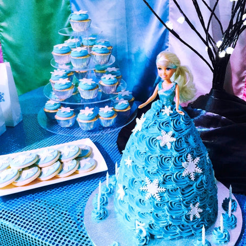 Elsa Snow Queen Doll Cake