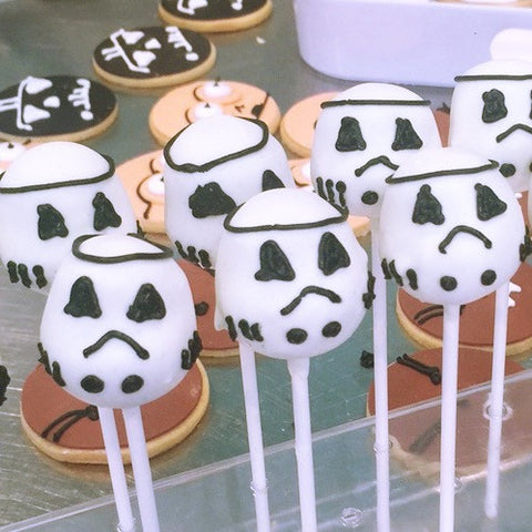 Storm Trooper Cake Pops