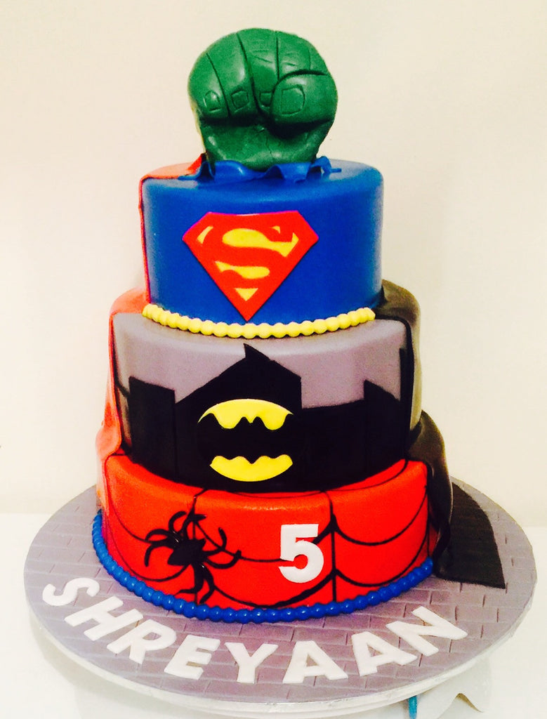Superhero cake Three Tier