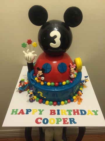 Mickey inspired extravaganza cake