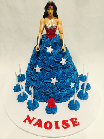 Wonder Woman doll cake