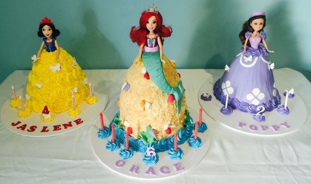 Ariel mermaid doll cake