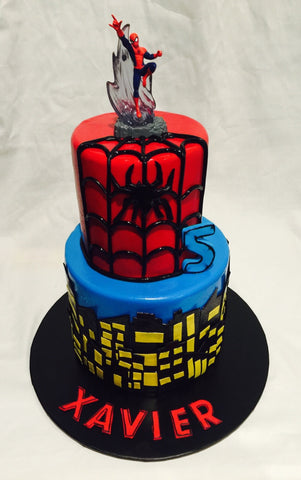 Spiderman cake Two Tiered