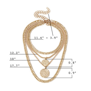 Aje Coins Necklace Set