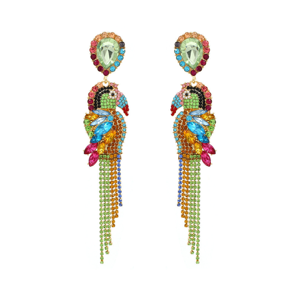 Fauna Crystal Bird Earrings