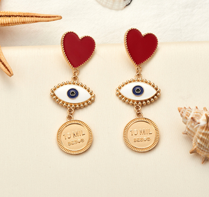 Ennodia Eye Heart Earrings