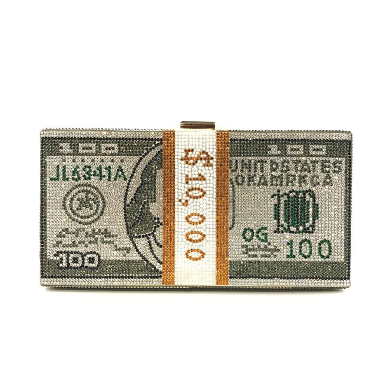 Lakshmi Dollar Bill Clutch