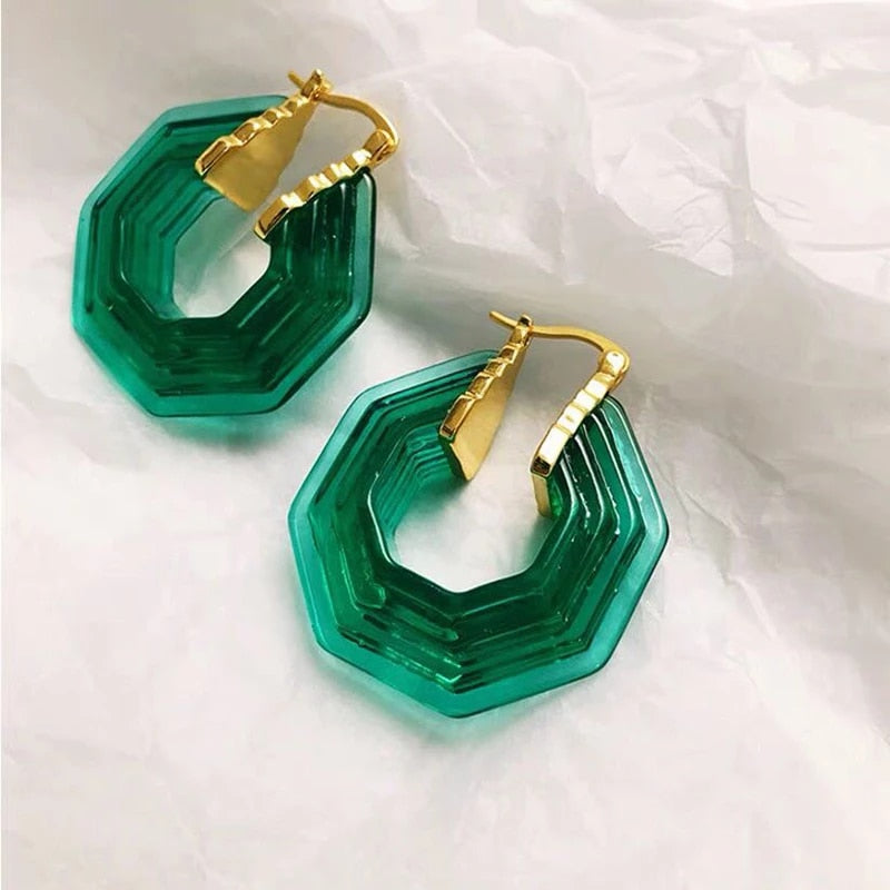 Gleti Acrylic Art Deco Earrings
