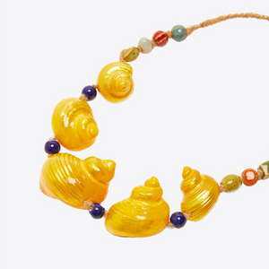Aida Wedo Yellow Conch Necklace