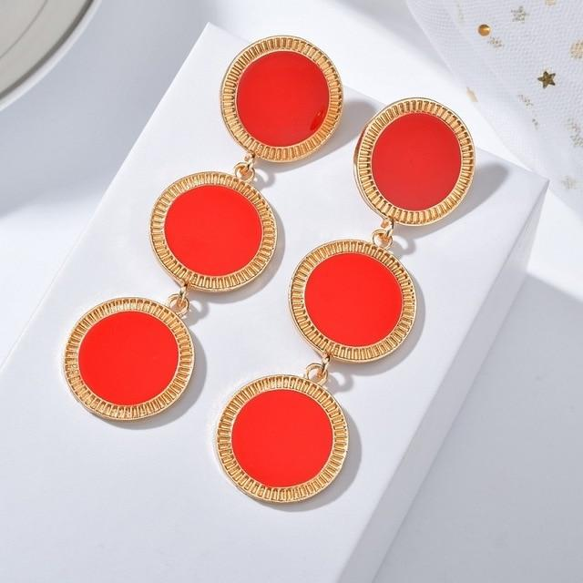 DAMONA Earrings Rebeldy Red