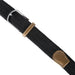 Mens Braided Elastic Woven Belt Black XXL