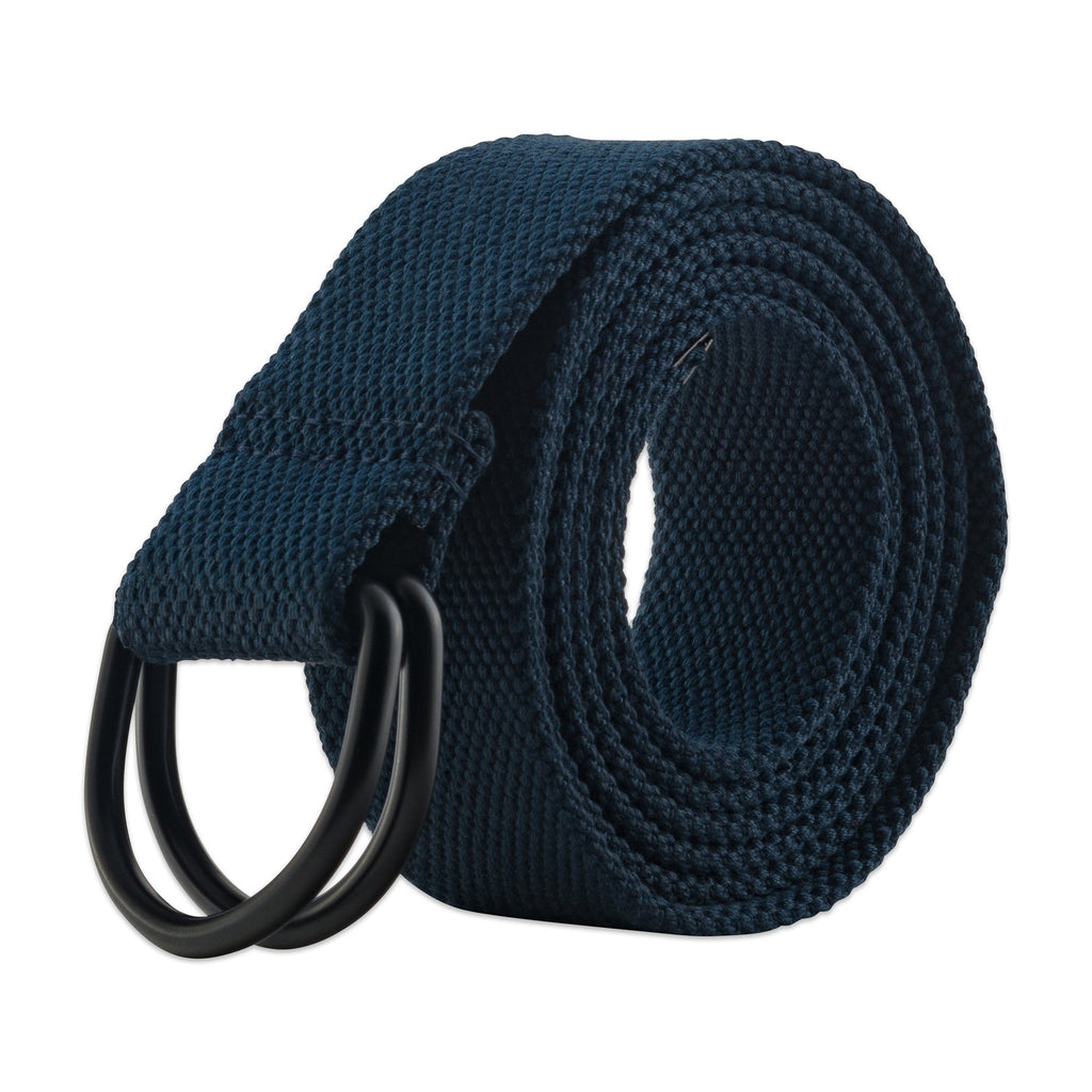 Mens And Womens D-Ring Canvas Belt Navy S