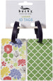 Floral Dot Luggage ID Tag