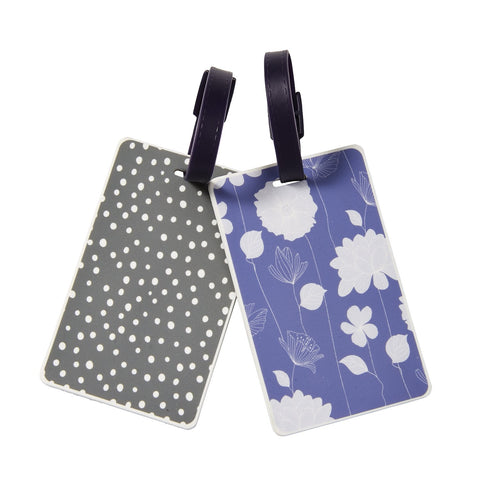 Floral Dot Luggage Tag