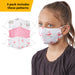 Girl's Printed Face Mask - Set of 3
