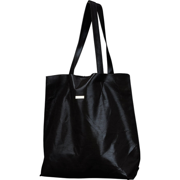 Chic Metallic Travel Tote - Black
