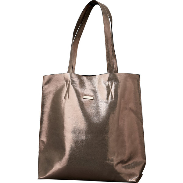 Chic Metallic Travel Tote - Rose Gold