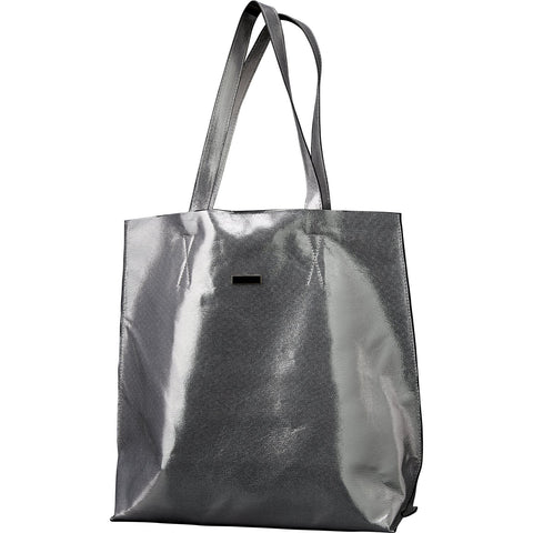 Chic Metallic Travel Tote - Silver