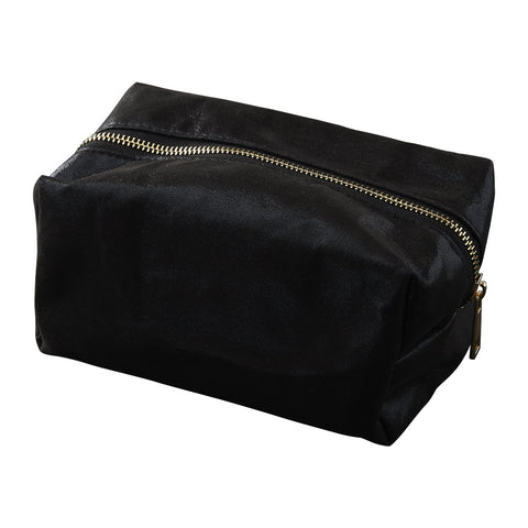 Chic Metallic Toiletry Bag - Black