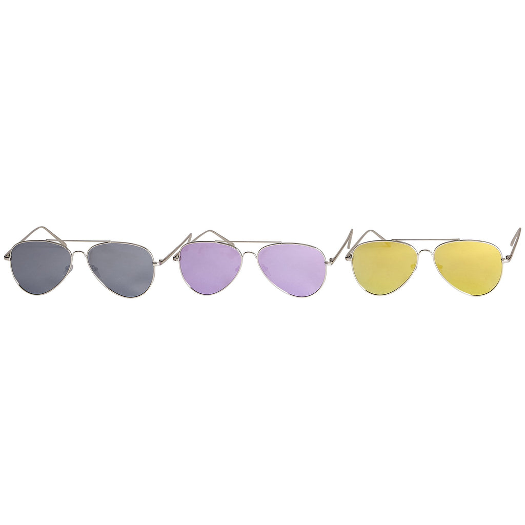 Murphy Mirror Polarized Aviator Sunglasses - 3 Pack