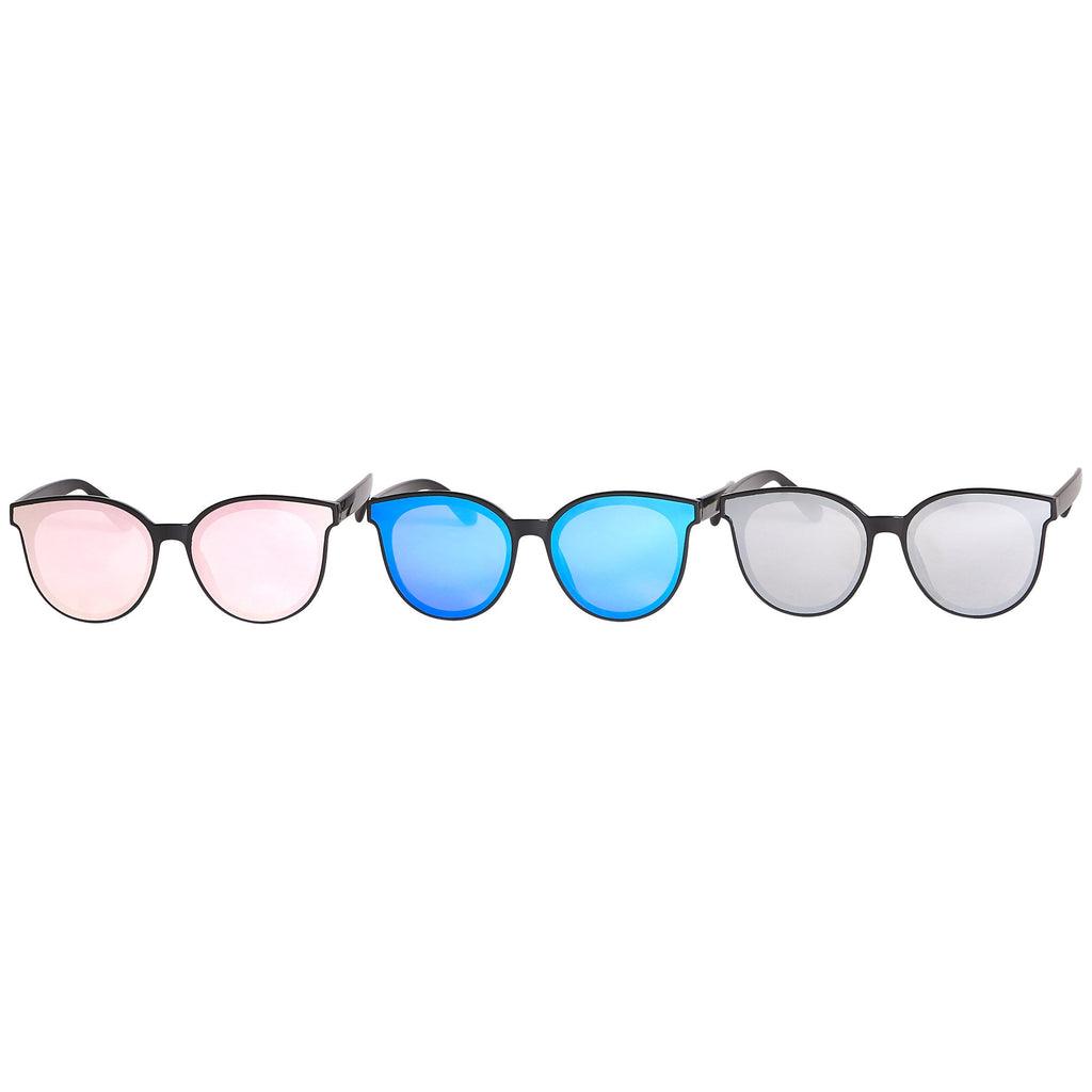 Pixie Mirror Cat Eye Sunglasses - 3 Pack