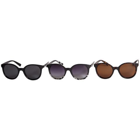 Jenna Polarized Round Sunglasses - 3 Pack