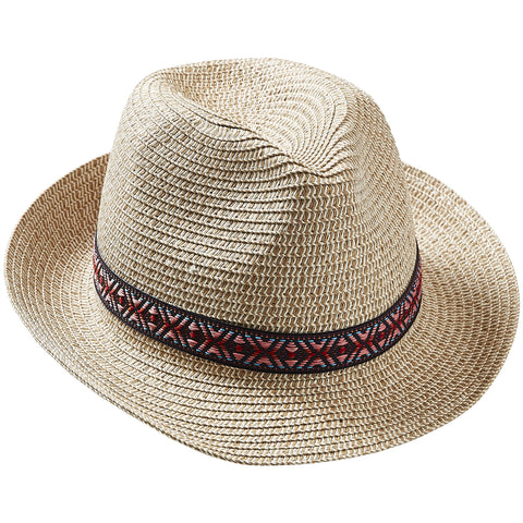 Zesty Stripe Beach Fedora