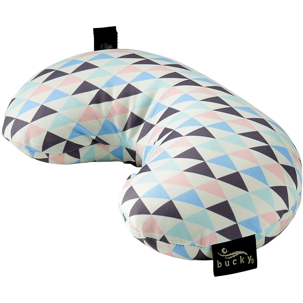 Compact Neck Pillow With Snap Go Geo Tri Bucky
